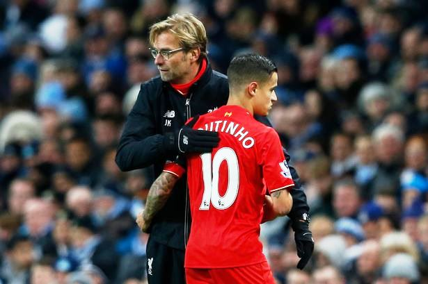 Jurgen Klopp Phillipe Coutinho Liverpool, Jurgen Klopp Phillipe Coutinho, Liverpool, Jurgen Klopp, Phillipe Coutinho Liverpool, Jurgen Klopp Liverpool, Phillipe Coutinho, Liga Inggris, Premier League